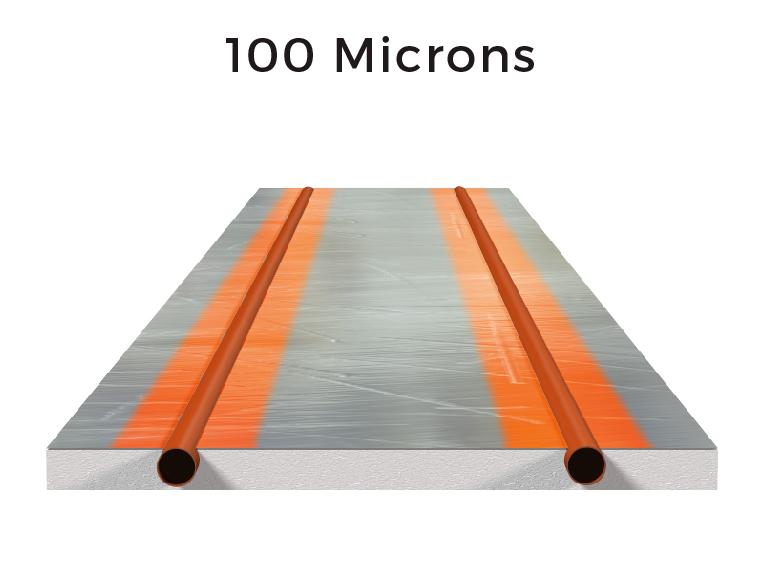 100 microns of aluminium:
