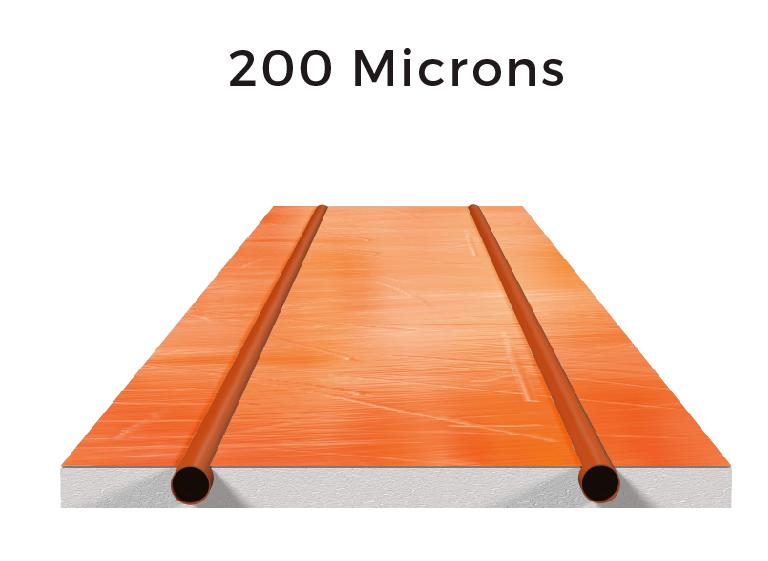 200 microns of aluminium: