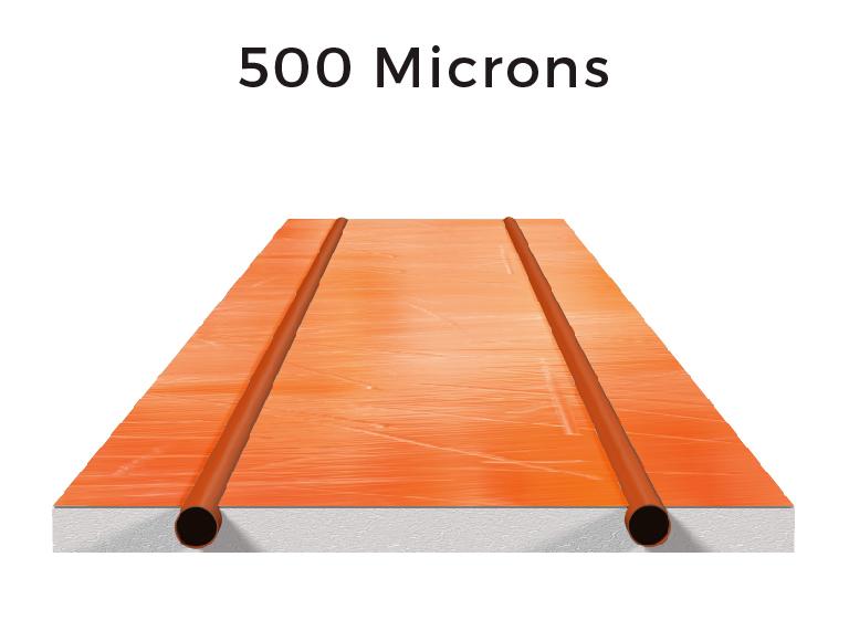 500 microns of aluminium: